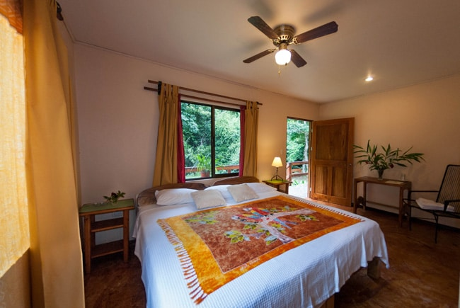 Spacious double room  - perfect for relaxing after zip lining, water sports, hanging bridges, horseback riding and other tours