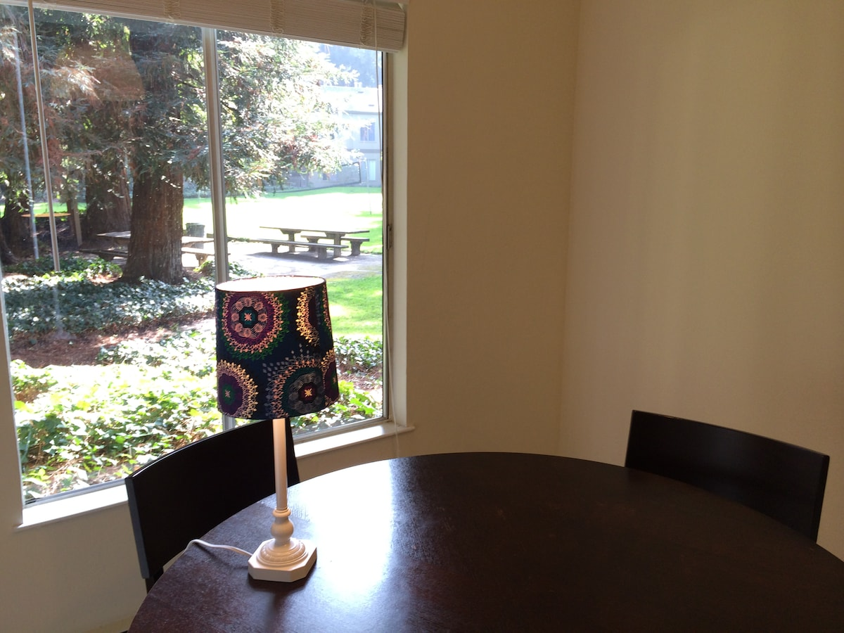 Quiet dining room with a great view