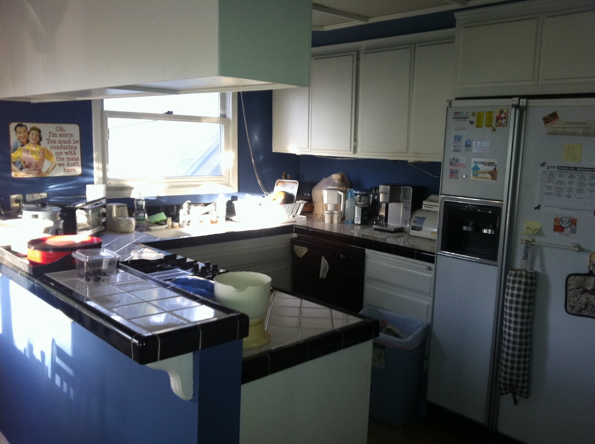 Common kitchen area...small but very functional and well appointed!