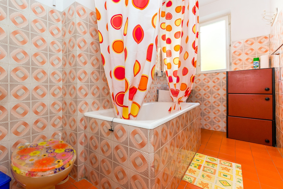 The bathroom is shared with a double bedroom.