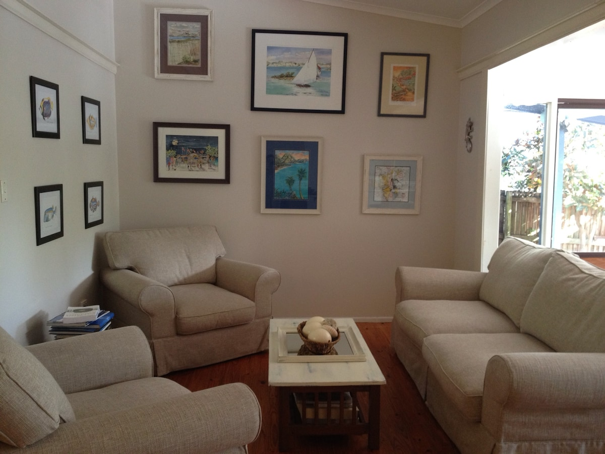 Sitting room with comfy new furniture