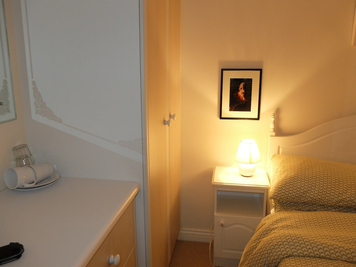 Bedroom 1- Access to wardrobe which is ample for your clothes and to store your suitcase.