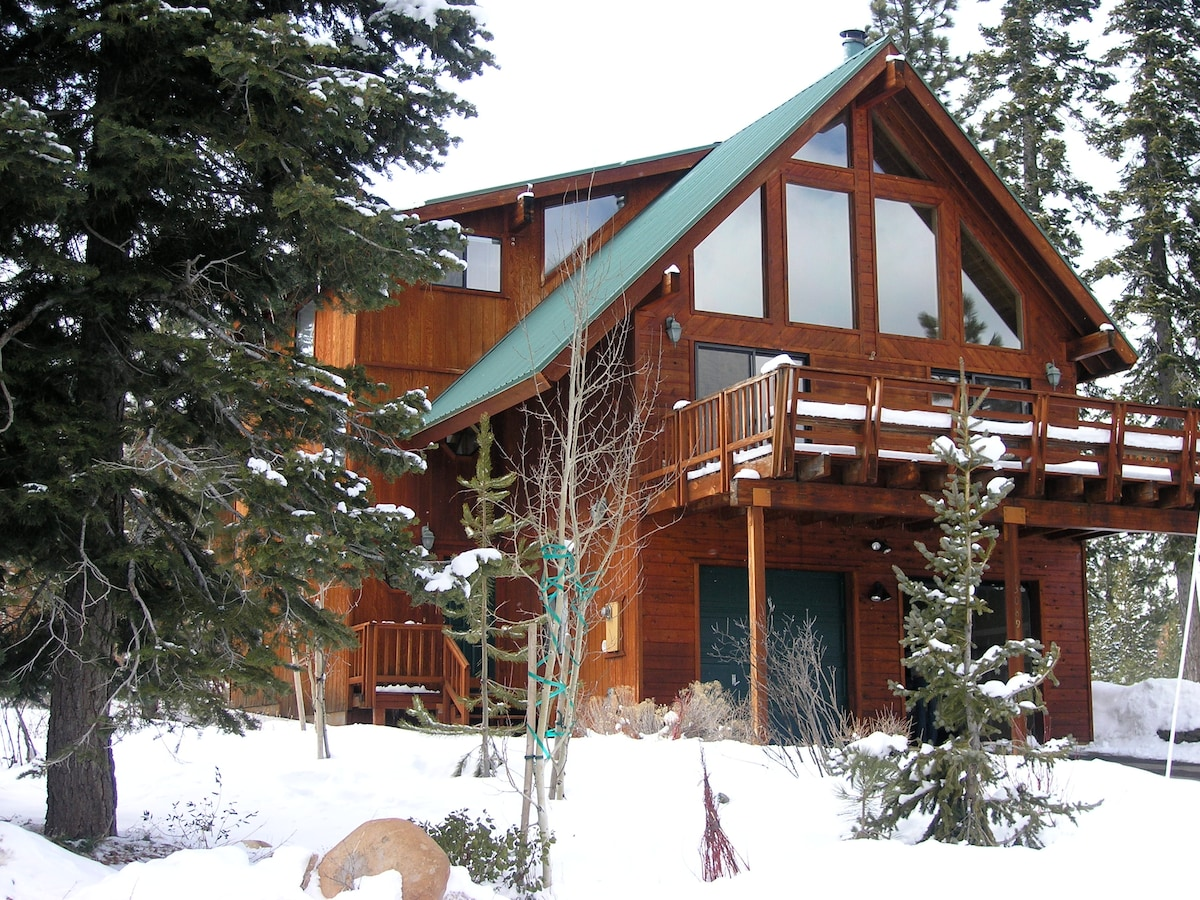 Classic Tahoe, with mountain views, surrounded by trees yet easy access