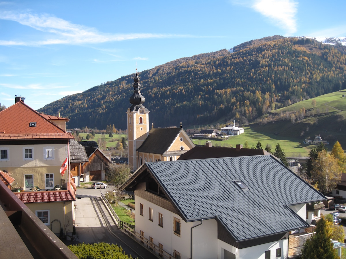 The view from the balcony in summer time