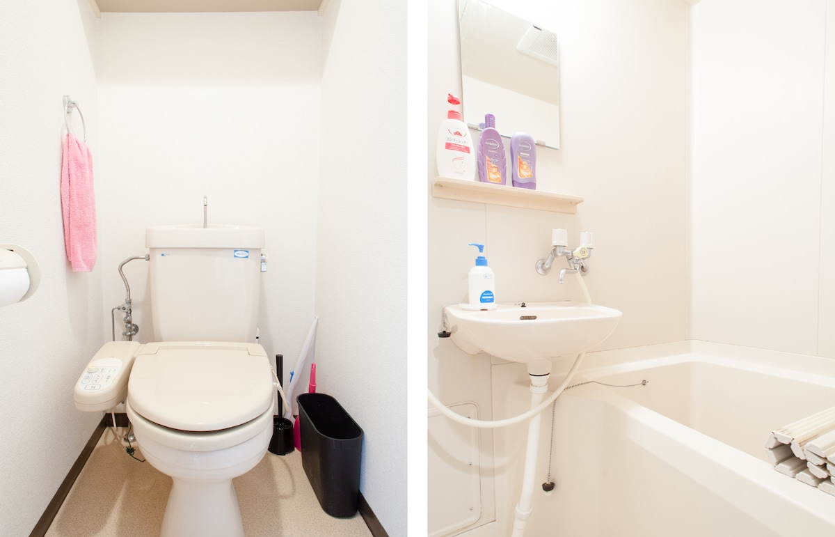 Separate Rooms for Bath and Toilet.   A luxury in Japan!