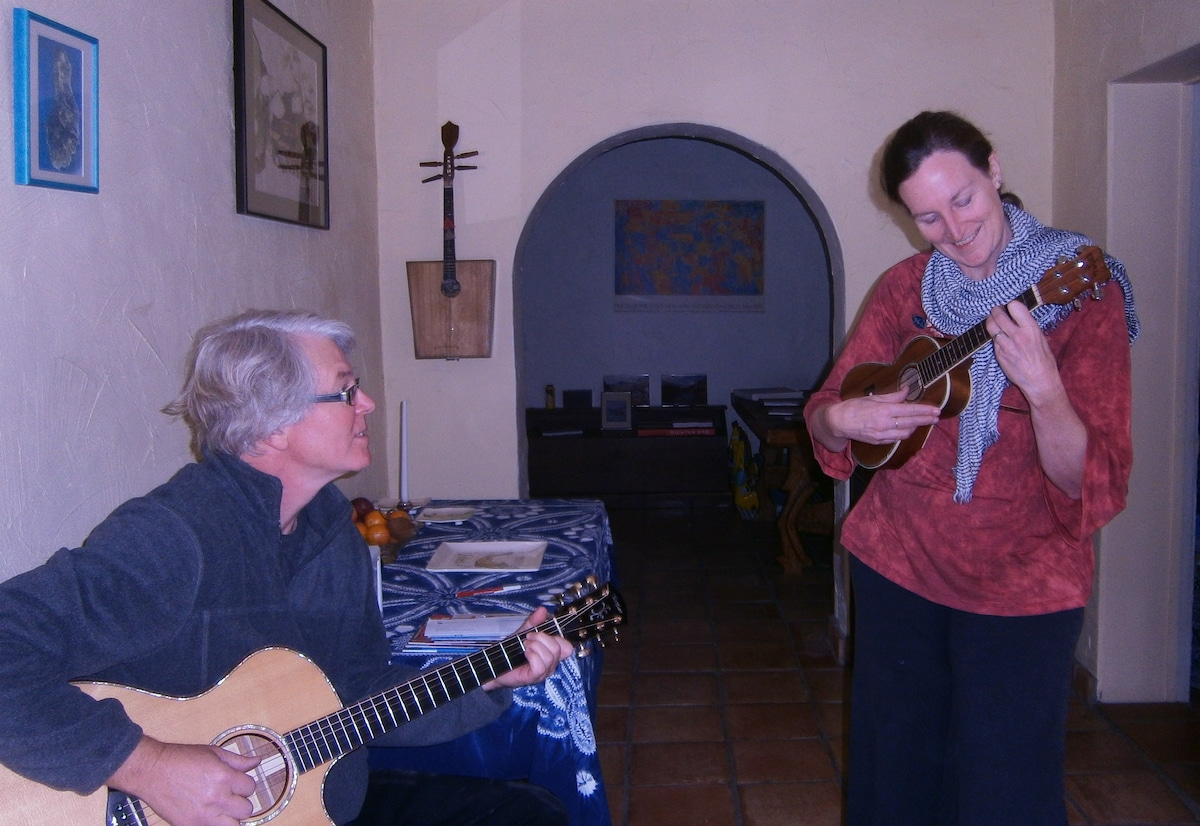 Our Thanksgiving Day guest rocking out with John.
