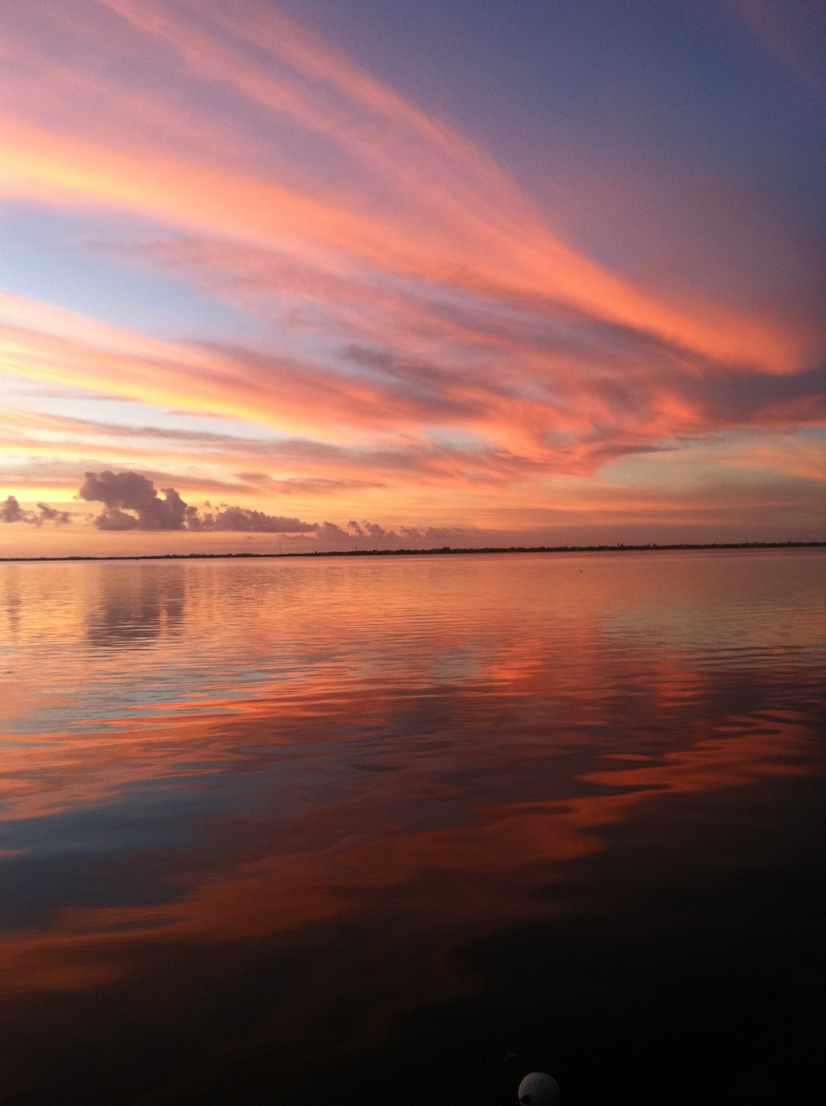 No its not photo shopped..taken right from our dock