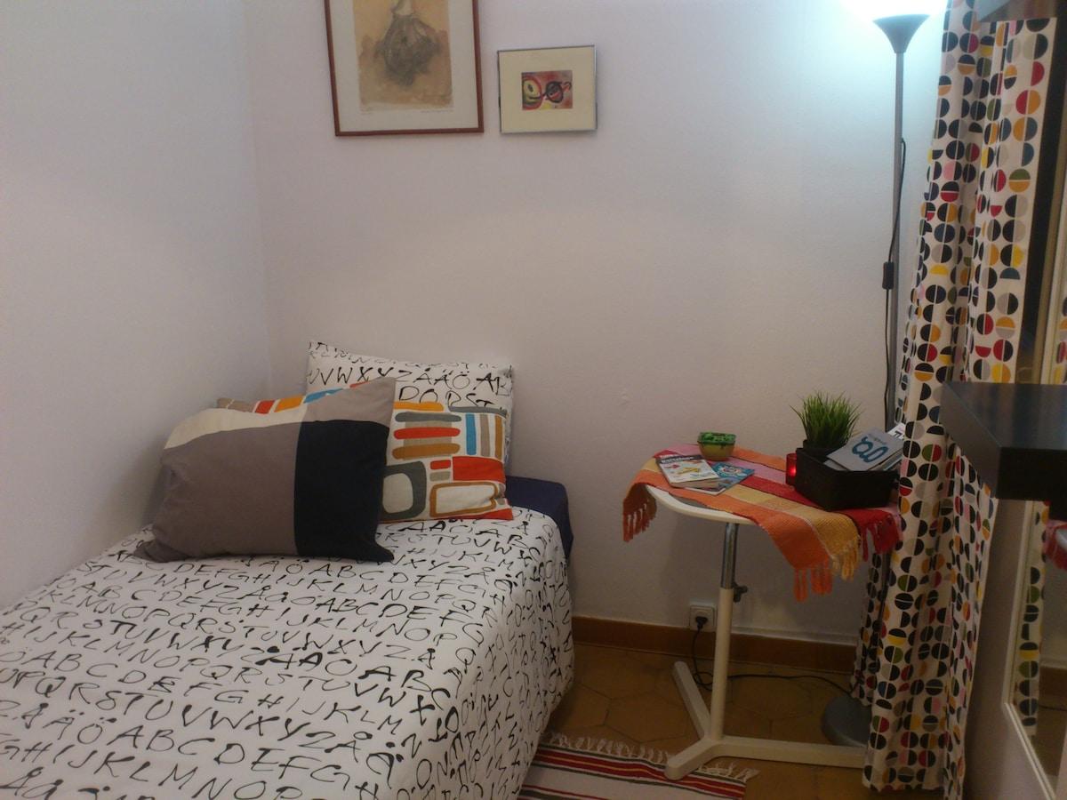 Single Room, Habitacion individual, privada.