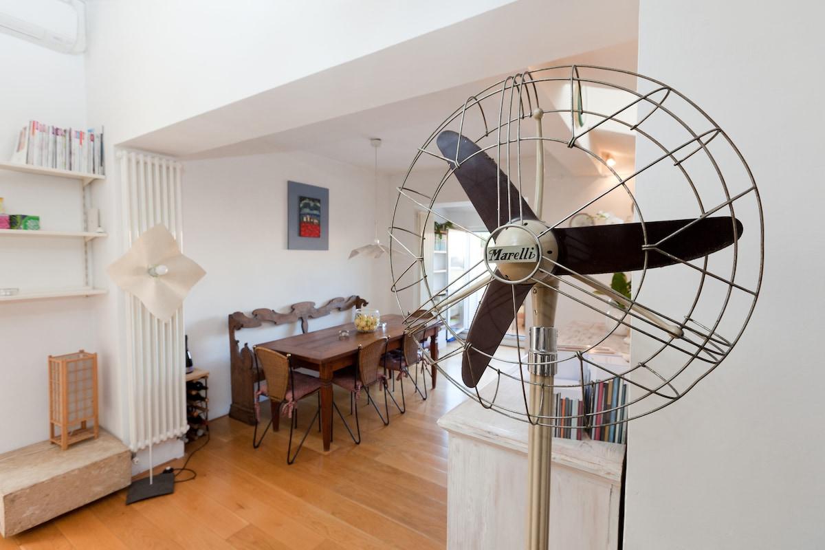 Attic apartment in Rome's center