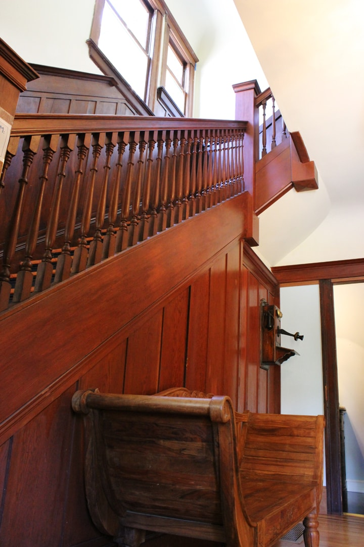 I'd better take off my shoes so I don't disturb the guests in the attached apartment beneath the stairs.