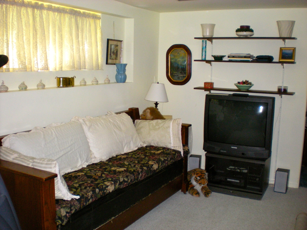 Your private apartment on Queen Anne Hill with TV, VCR & fast Wi-Fi.