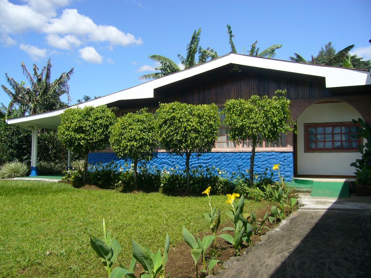 Costarican typical facade house