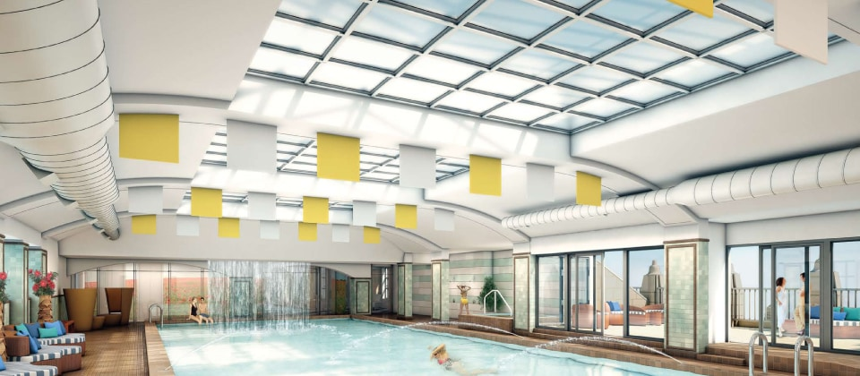 Indoor Swimming Pool With City Views