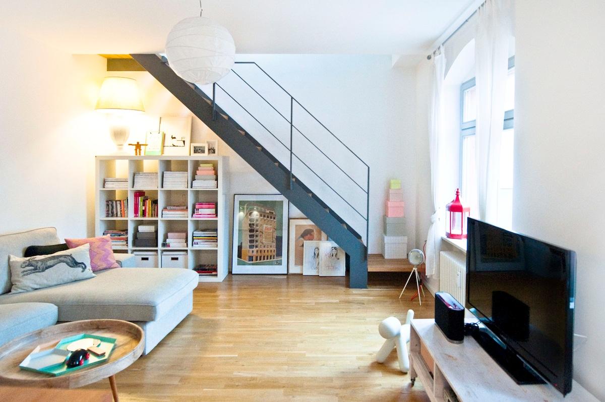 Stylish & Central Duplex Loft