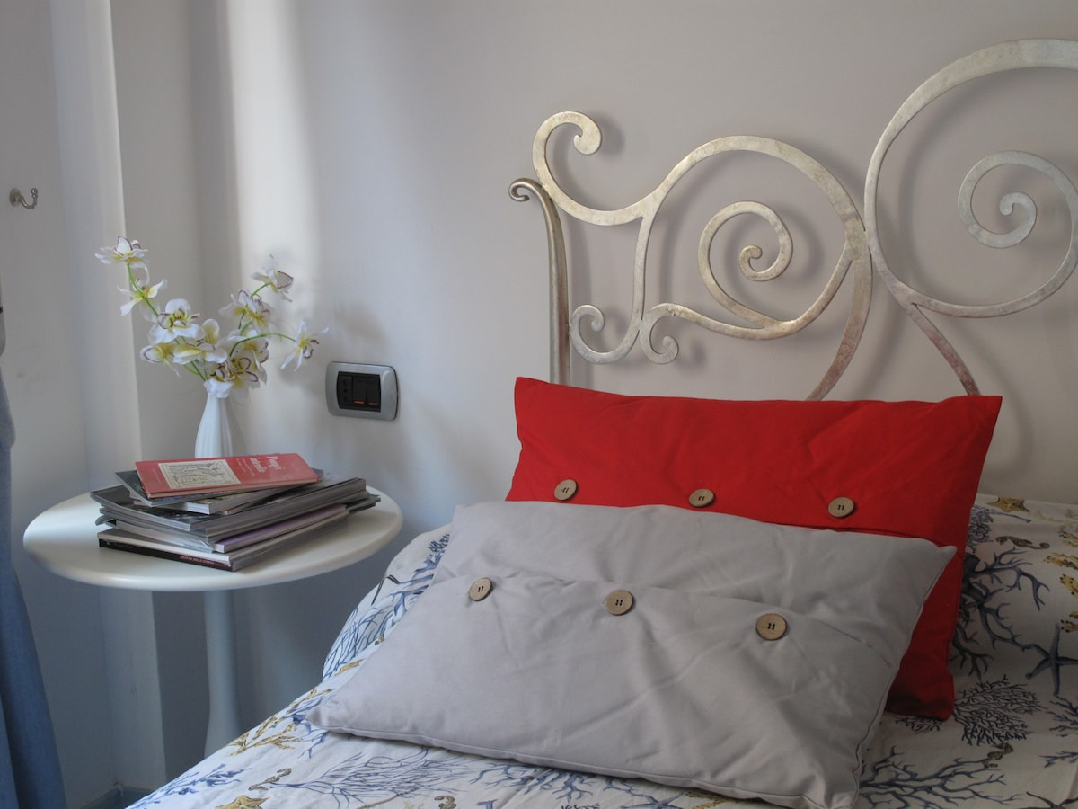 Double bed upclose