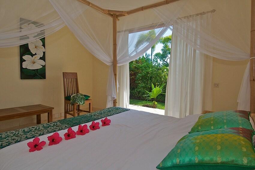 """de """"groene kamer"""" voor een heerlijke nachtrust met airco."""