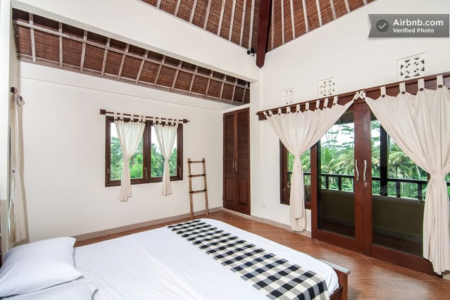 Master room in rice field home