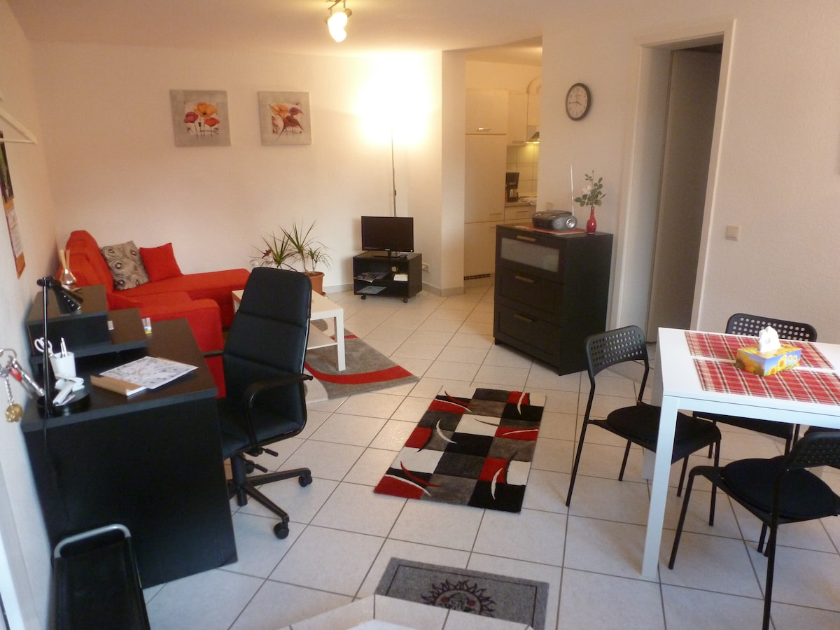 Nahe Ffm: 2-Zim-Apartment m. WLAN