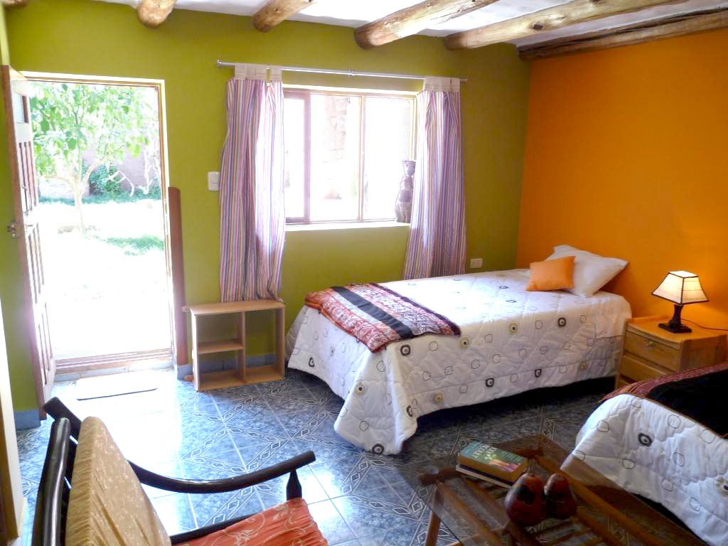 The rooms are super clean and open to our lovely garden