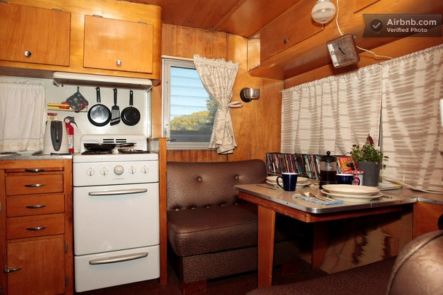 Camping indoors, but with convenience, a dvd collection and wifi.