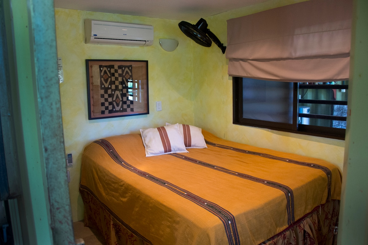 Comfy and safe rooms with AC and real mattresses.