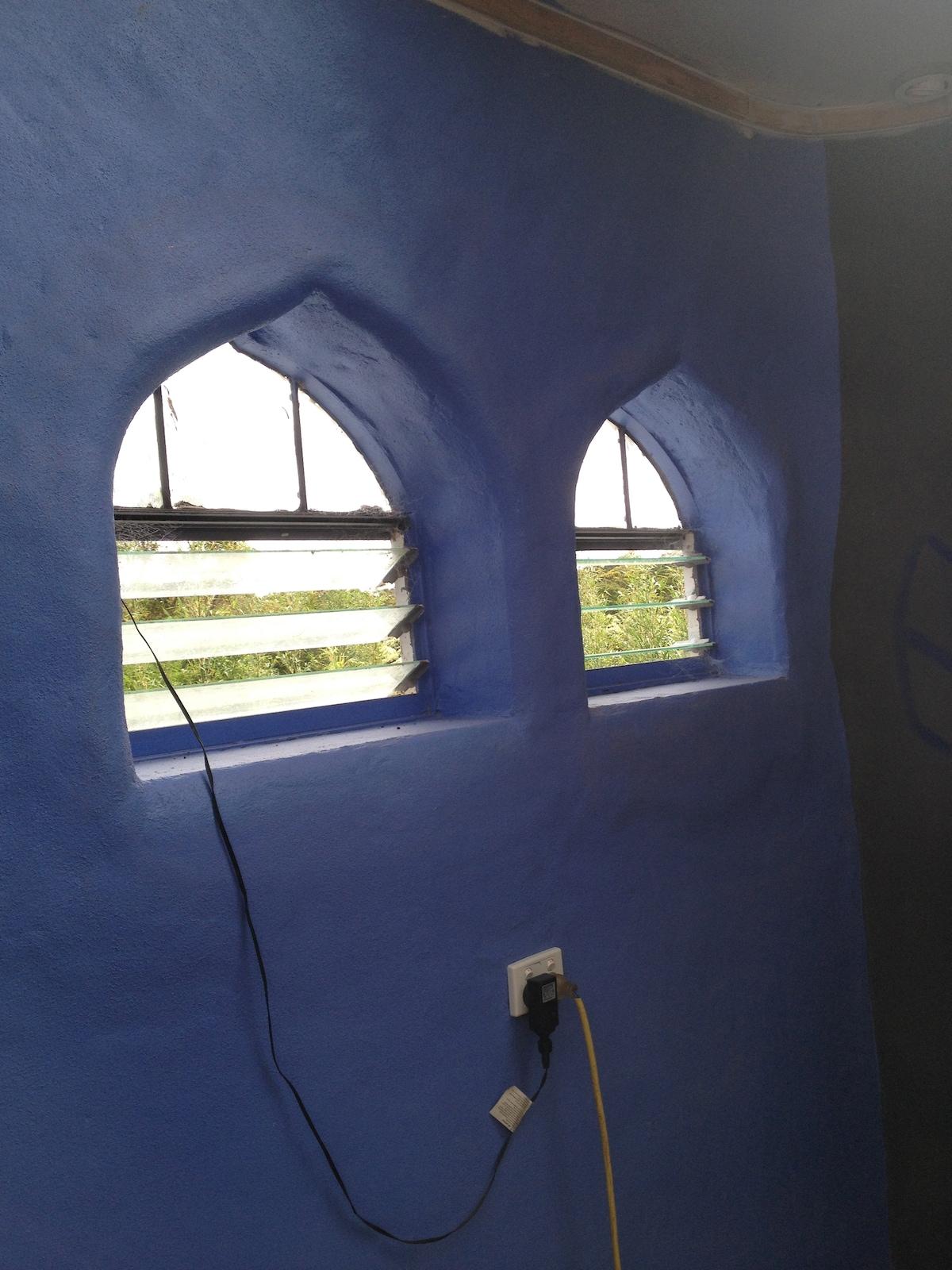 Double Goth windows.
