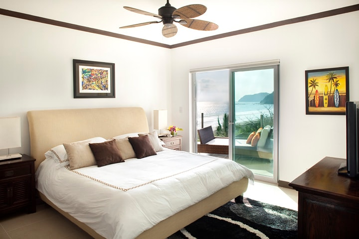 Master bedroom with terrace