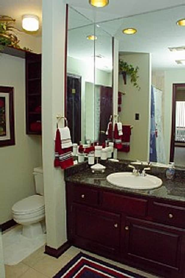 Cherrywood Cabnetry & Trim, Granite Counter Tops & Tons of Mirrors!