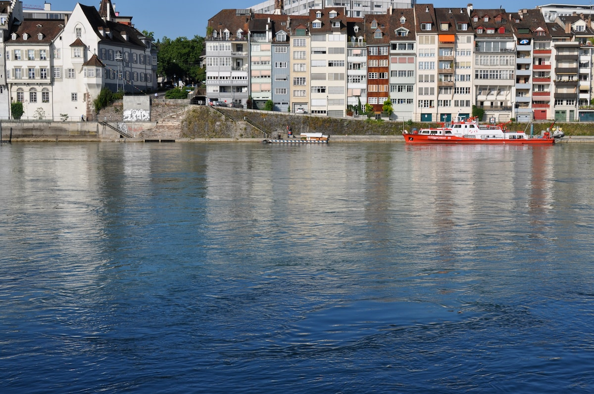 "You stay in this part of the old town, the fire fighting boat ""Christophorus"" is constantly at the ready"