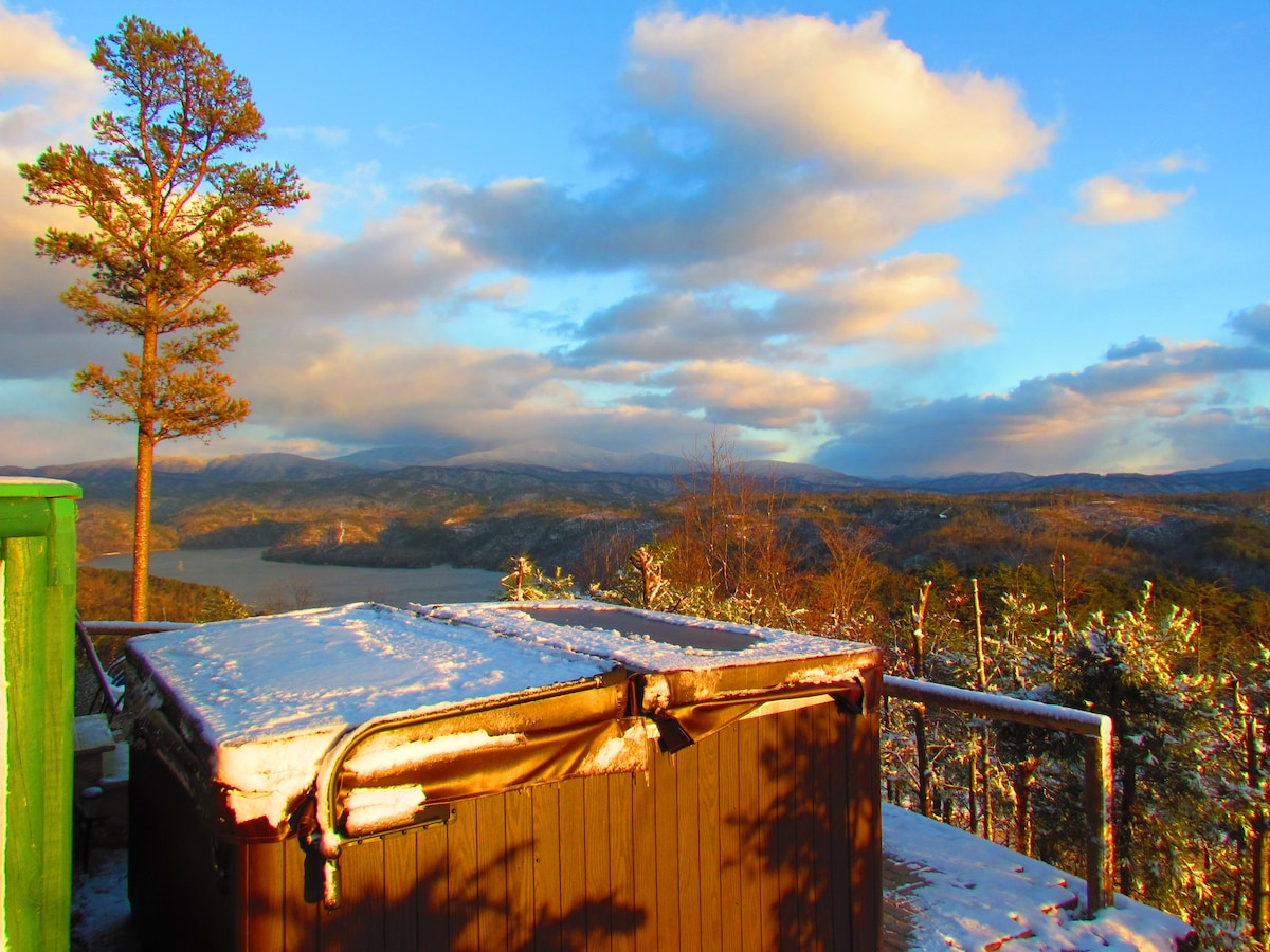 Really? Yes...really! This is that hot tub view I told you about :)