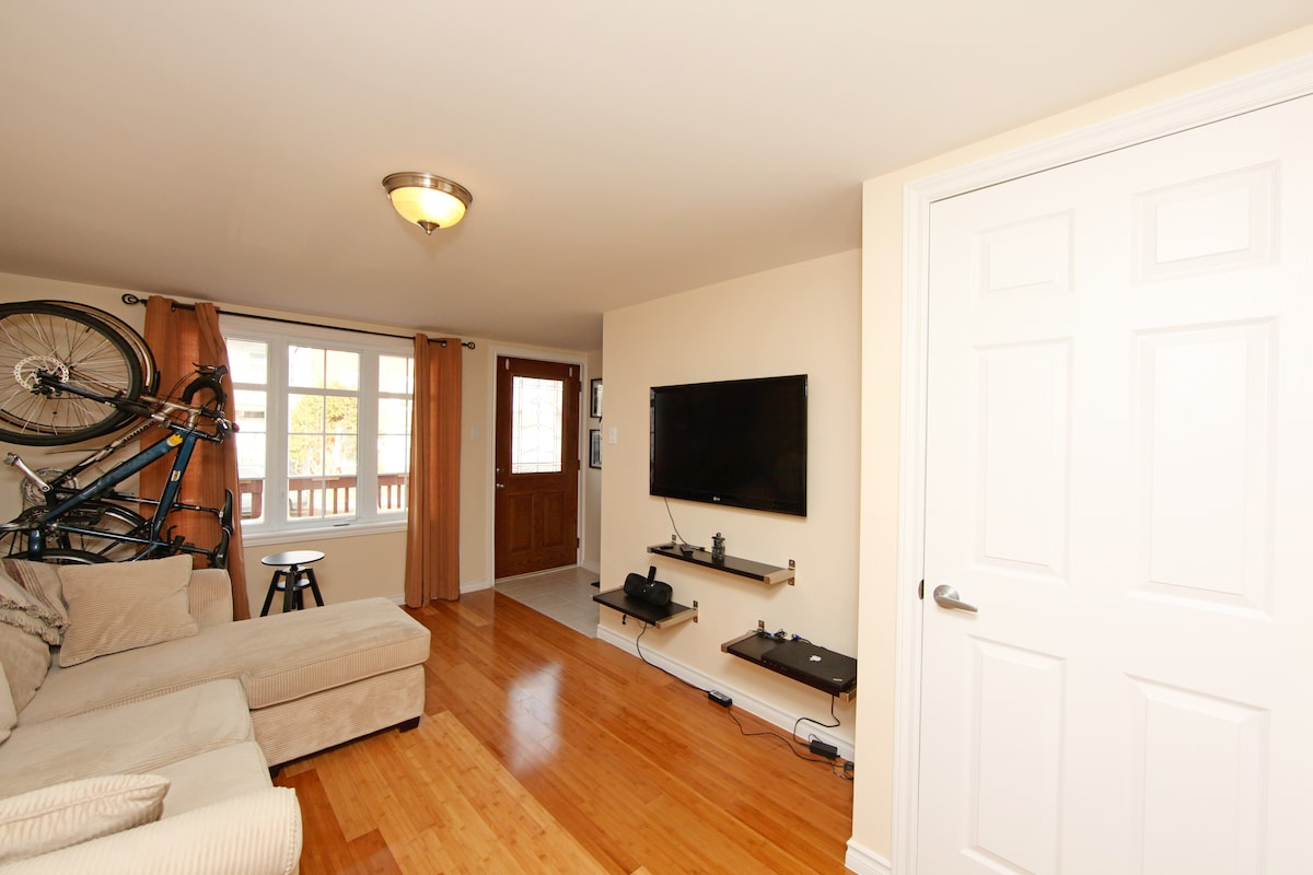 The cozy living room - music, tv and wireless internet