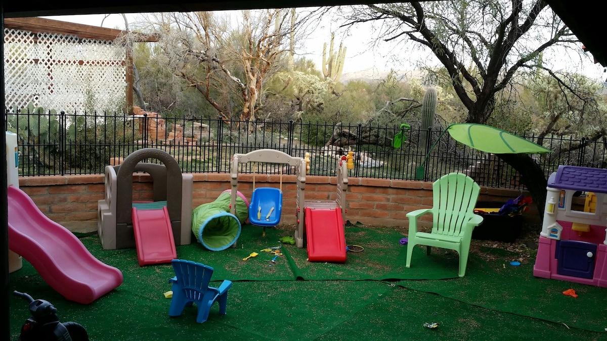 Children's enclosed play area