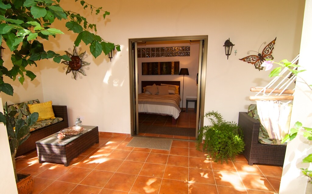 Lovely entrance to  the Terrace Bedroom