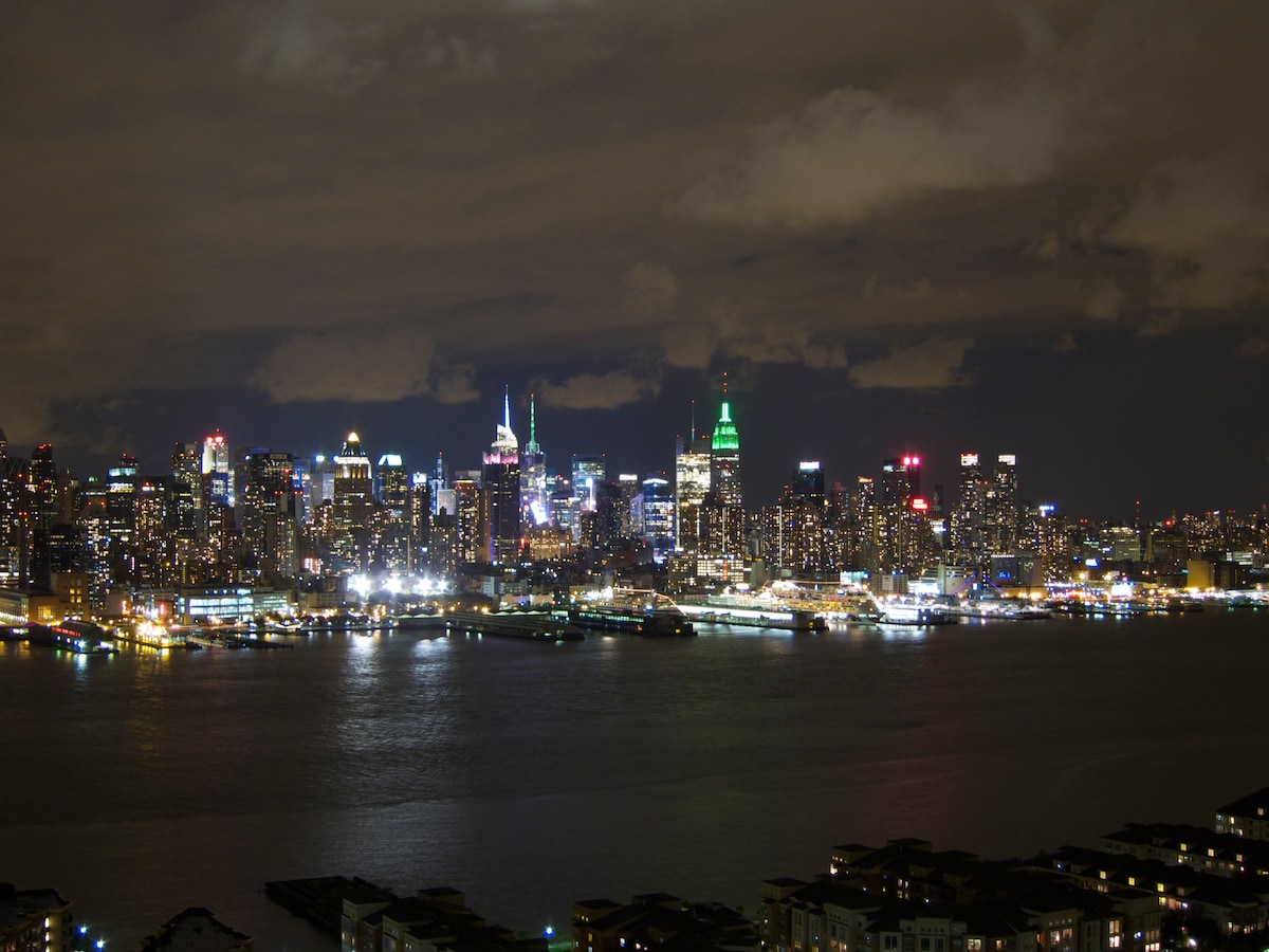 NYC is calling you! Evening view from the apartment.