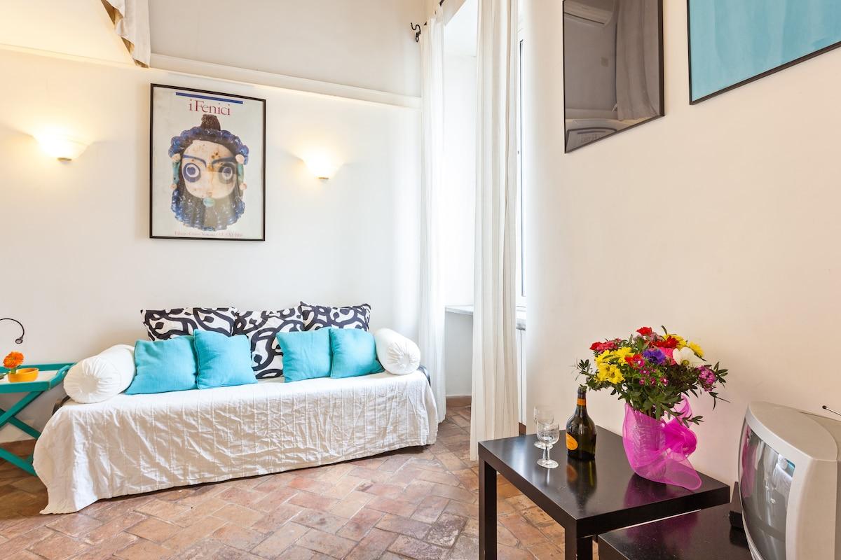 soggiorno con divano letto matrimoniale