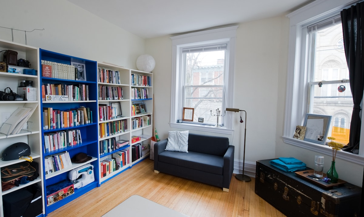 Guestroom with pull-out sofa-bed