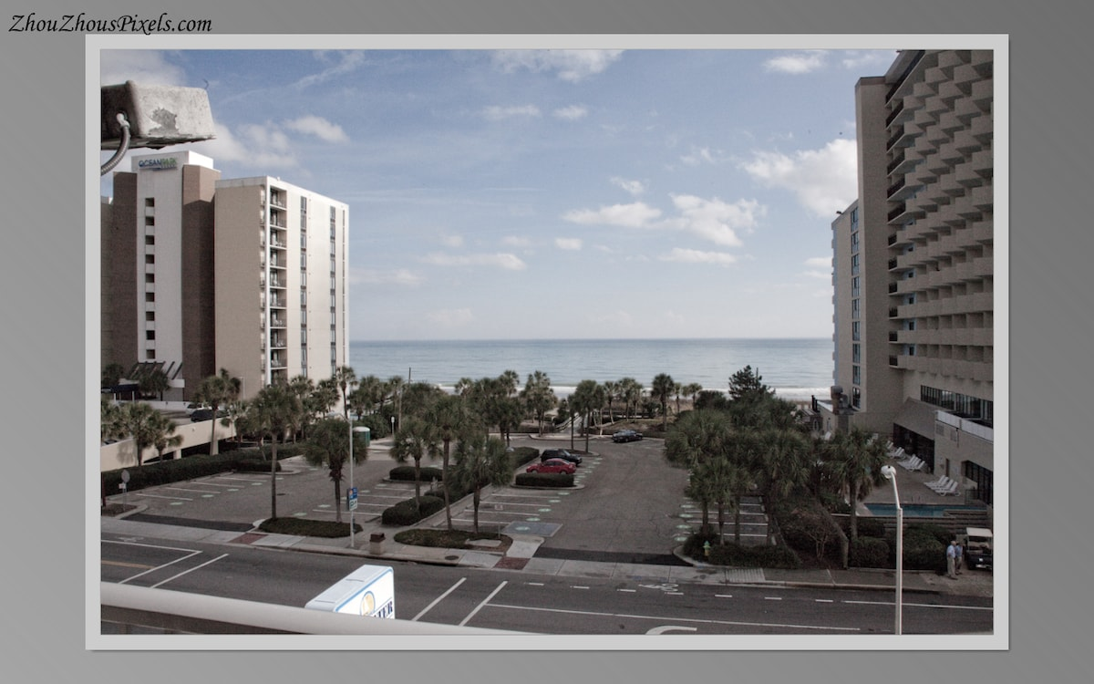 View from the corner unit overlooking the ocean.