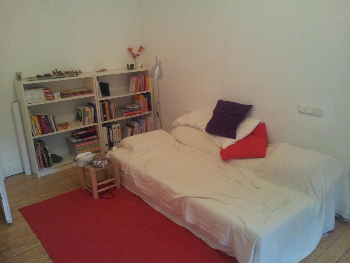 Helles Zimmer in Altbauwohnung