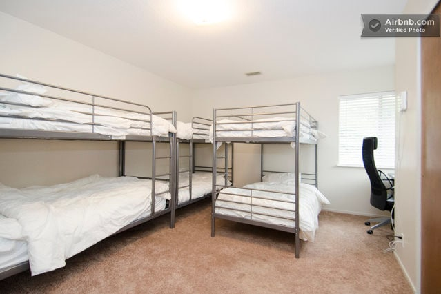 """Luxurious bunks in the shared """"Great"""" room"""