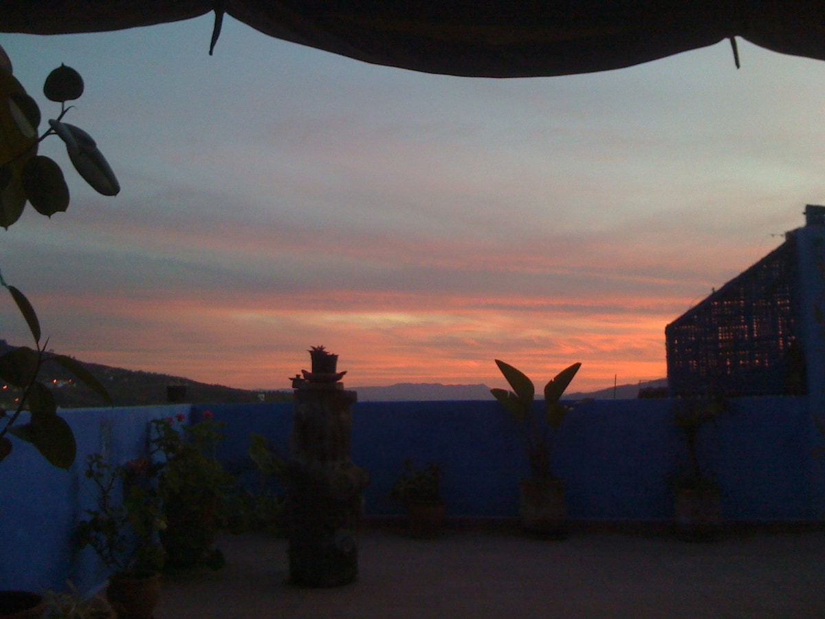 On the roof of Chefchaouen