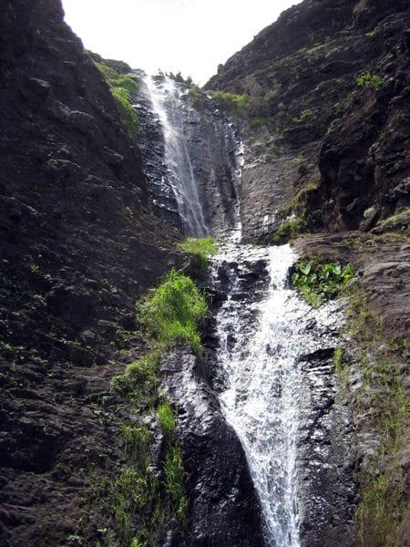 Secret Water Fall on Kalalau