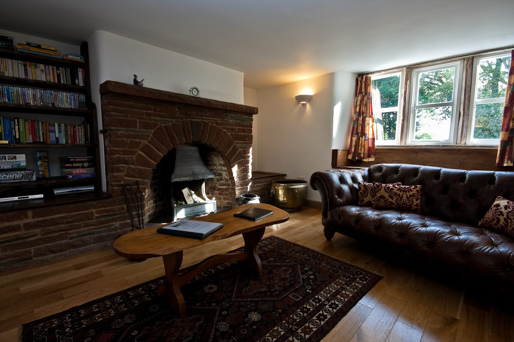 front room with open fire