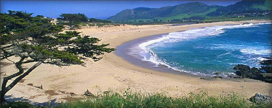 Carmel River Beach, walk to it and pass the Mission and Clint Eastwood's Mission Inn on this easy 15 minute walk