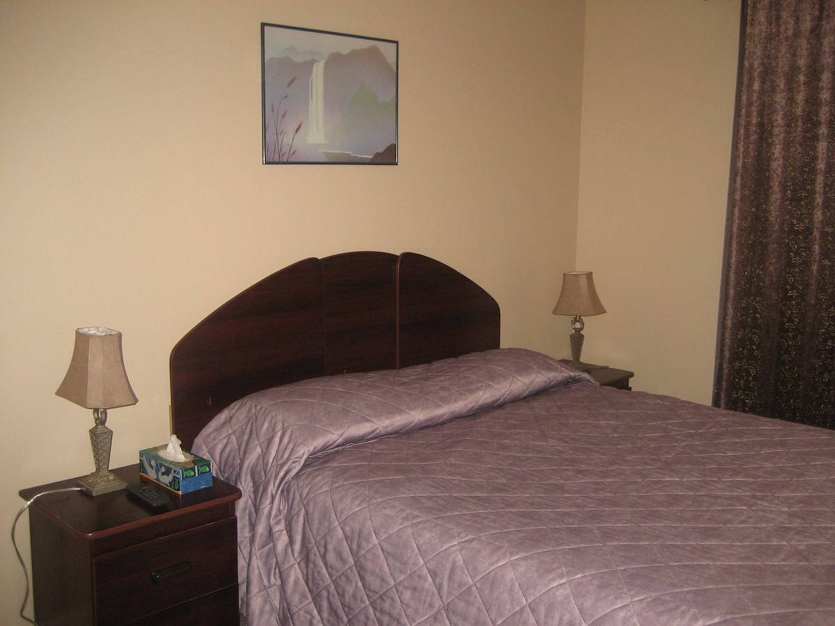 Each Bedroom can sleep two people, has large closet for extra storage space, and TV equipped with Cable TV.