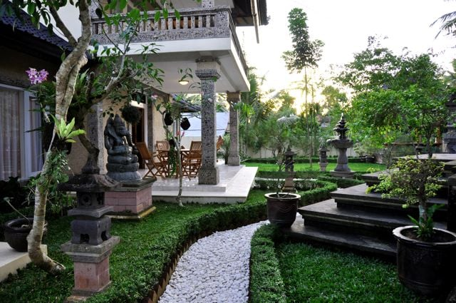 Well maintained grounds surround the Villa.  Sustainable, local items and products are used throughout the Villa to help enhance your true Balinese experience.