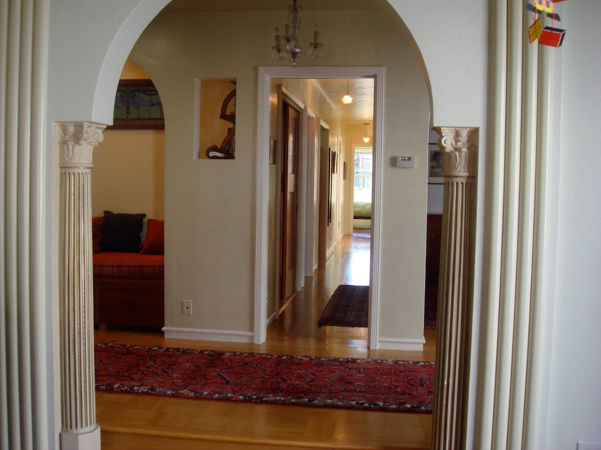 Hallway and reading nook