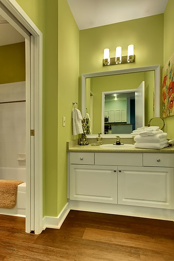 Vanity area of bathroom