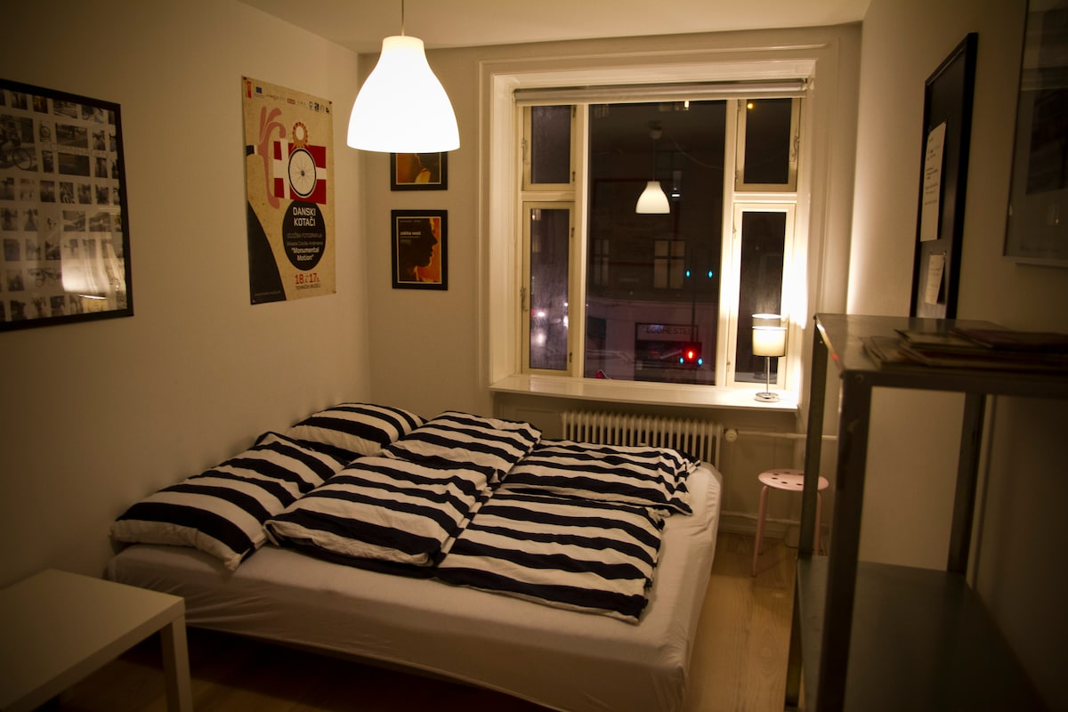 The Guest Room at Casa Copenhagenize. 18 sq/m. Double bed or two singles.