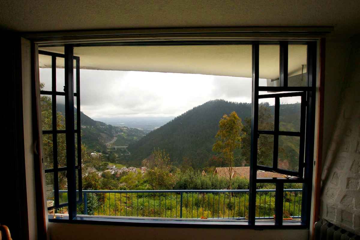Living room window with view beyond