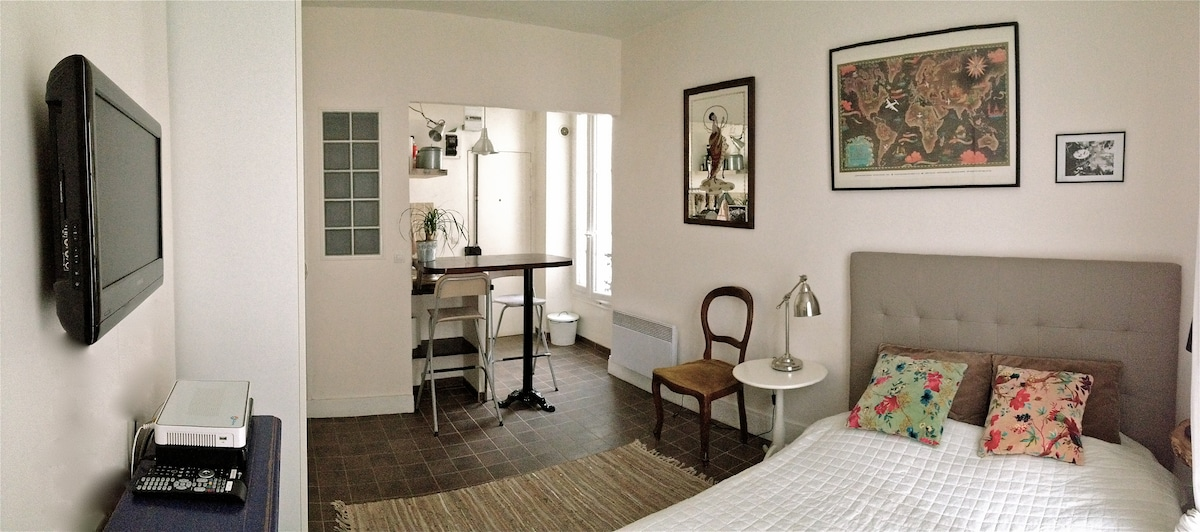 Adorable studio- Canal St.Martin